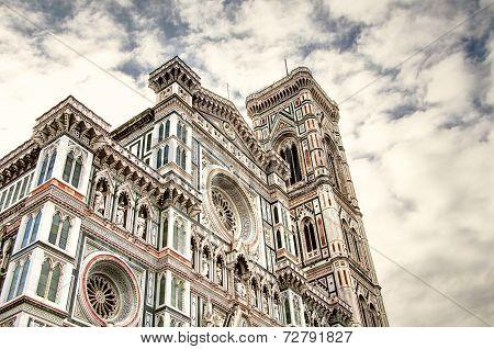 The facade of Santa Maria del Fiore was one of the most turbulent in the history of the construction of the cathedral of Florence. poster
