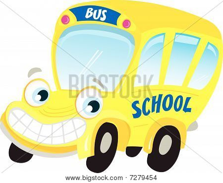 Isolated yellow school bus