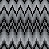 Rounded zigzag pattern in grey repeats seamlessly. poster