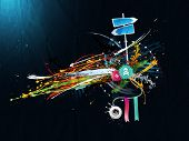 dirty abstract grunge background in the graffiti style poster