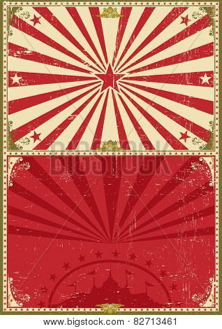 Vintage poster circus background. A circus vintage poster for your entertainment
