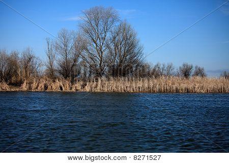 April On The River Volga In Astrakhan Region