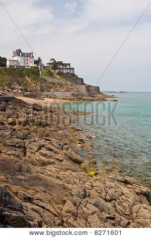 Rocky Coastline Of Dinard