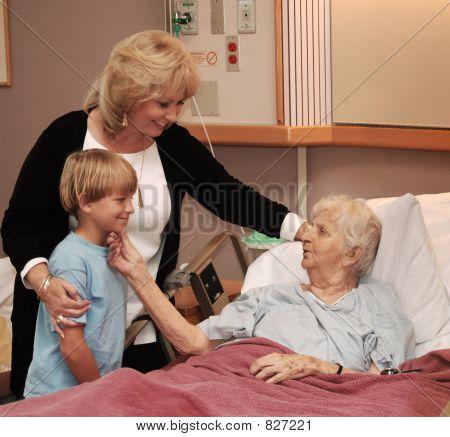 Familie besuchen Hospiz