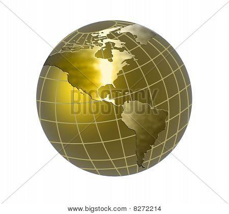 Soft Gold Globe