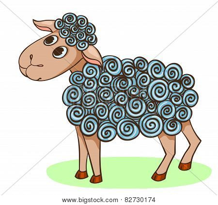 Cartoon Hand-drawn Cute Sheep