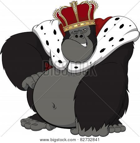 Monkey in the crown