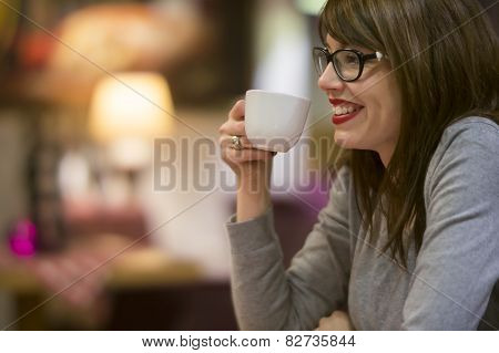 Enjoying A Hot Drink