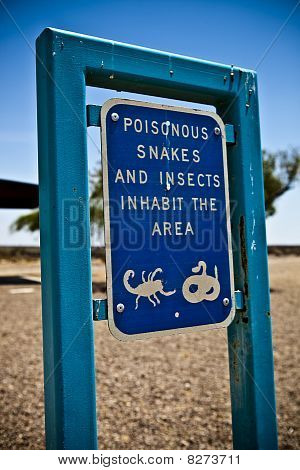 Poison Animals Sign