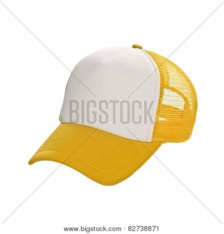 Baseball Cap Yellow Isolated