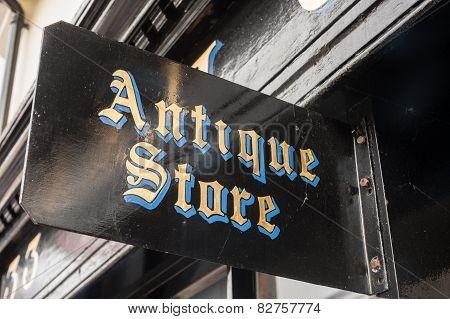 antiques store shop sign