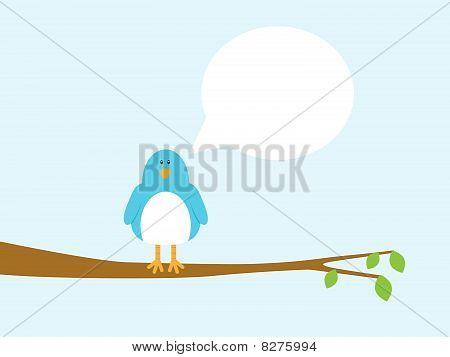 Blue Bird In Tree
