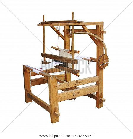 Ancient wooden loom