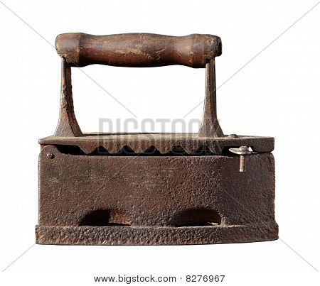 Retro coal iron