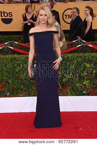 LOS ANGELES - JAN 25:  Naomi Watts arrives to the 21st Annual Screen Actors Guild Awards  on January 25, 2015 in Los Angeles, CA