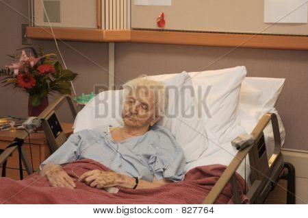 hospitalisierten senior