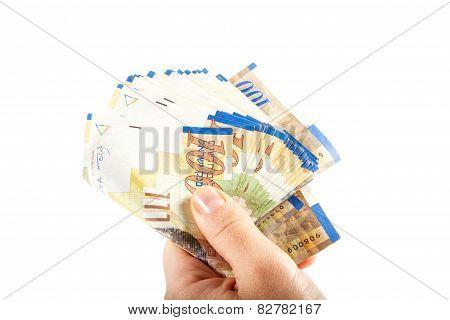 One Hundred Shekel Bank Notes .