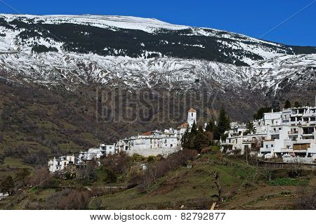 White town in mountain, Capileira.