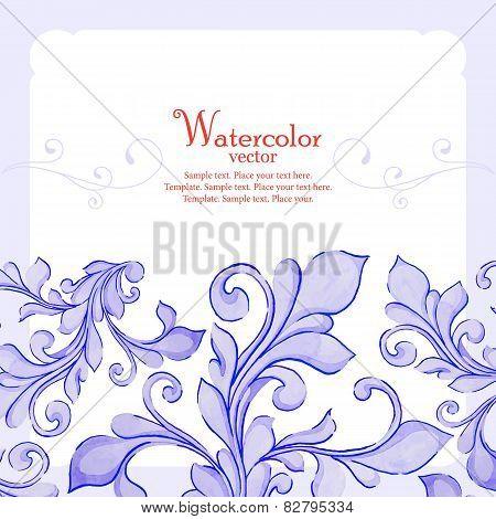 Barocco watercolor lace ornament