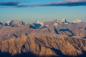 Sunrise from Stok Kangri - Magnificient view to Himalayas Mountains during sunrise poster