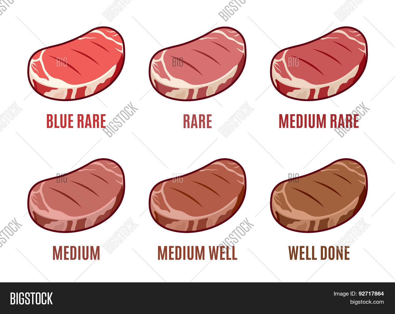 degrees steak vector photo free trial bigstock