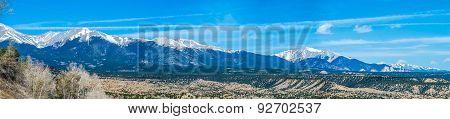the colorado rocky mountains with vista views poster