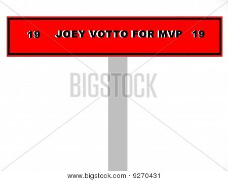 Joey Votto Baseball Sign