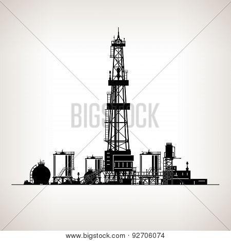 Silhouette Drilling Rig