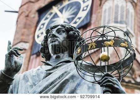 Monument Of Great Astronomer Nicolaus Copernicus, Torun, Poland