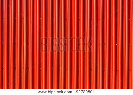 Vibrant red Aluminum Siding - vertical