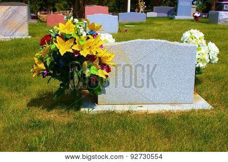 Headstone Flowers