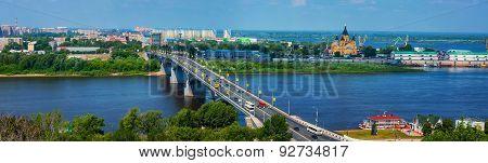 Aerial View At The Modern Part Of The Nizhny Novgorod