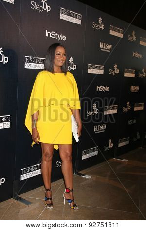 LOS ANGELES - JUN 5:  Garcelle Beauvais at the Step Up Women's Network 12th Annual Inspiration Awards at the Beverly Hilton Hotel on June 5, 2015 in Beverly Hills, CA