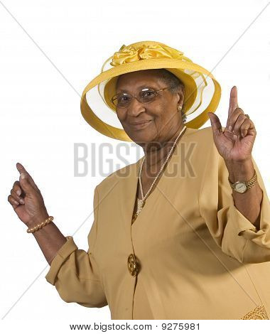Happy Old Woman Dancing