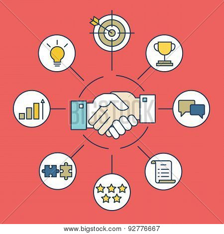 Vector Infographics Of Business Deal And Interaction
