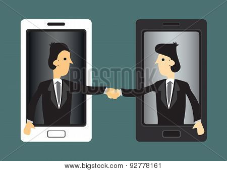 Harnessing Modern Technology For Business Vector Illustration