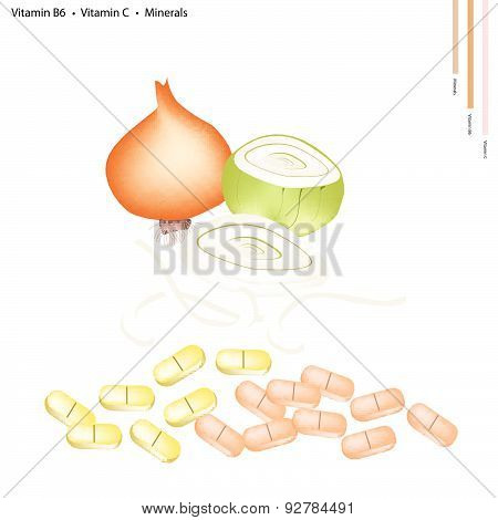 Onions With Vitamin B6, C And Minerals
