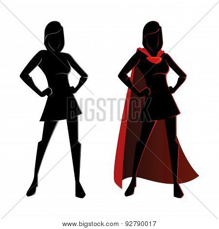 Female Superhero Silhouette