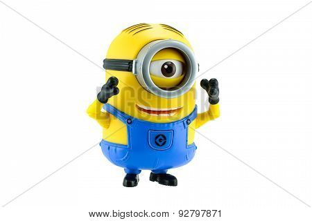 Minion Toy Isolated On White Background