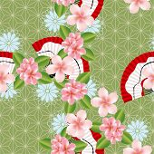 Abstract seamless japanese traditional pattern. Illustration vector. poster