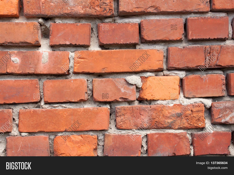 Red Clay Bricks : Old wall red brick clay image photo bigstock