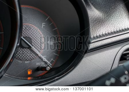 Car Fuel Gauge Showing Empty Fuel level