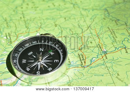 Don't get lost in the journey! The magnetic compass lies on a topographic map.