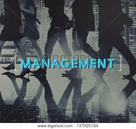Management Business Controlling Organization Graphic Concept