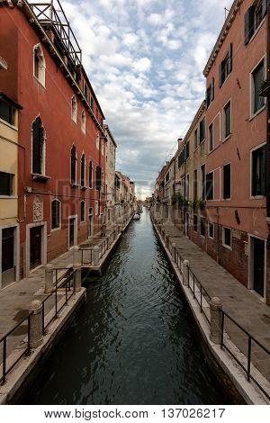 Rio De La Fornace Canal In Venice, Italy