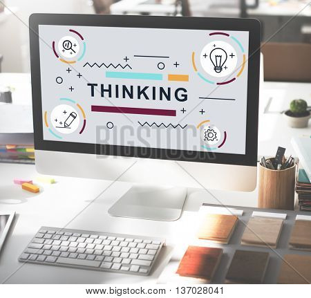 Thinking Thoughts Creative Innovation Graphic Concept
