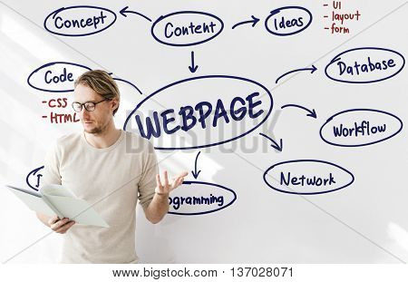Webpage Browser Data Digital Internet Network Concept