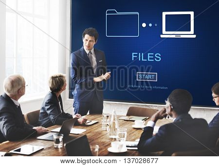 Files Data Information Message Network Share Concept