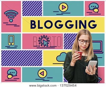 Blogging Internet Online Connection Message Concept