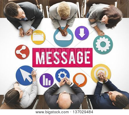 Message Online Letter Correspondence Communication Concept